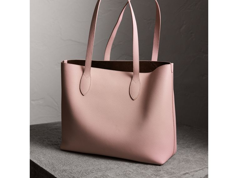 Embossed Leather Tote in Pale Ash Rose | Burberry - cell image 4