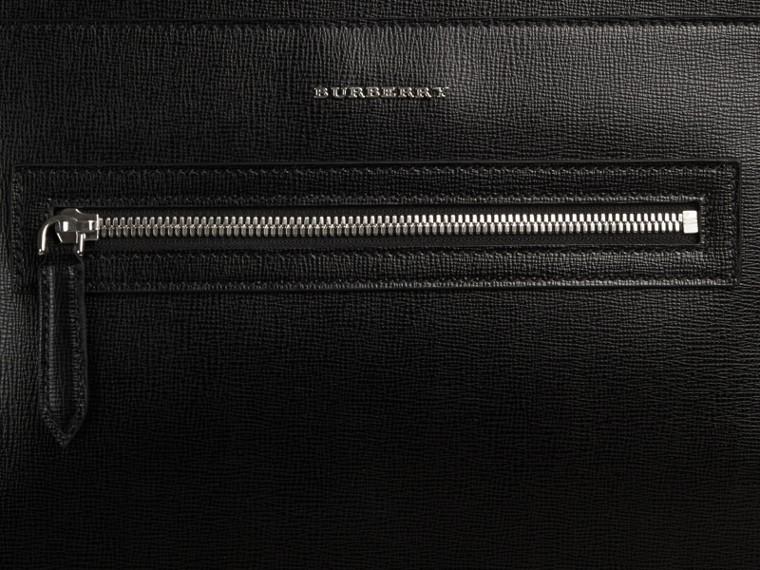 Noir Sac à dos en cuir texturé Noir - cell image 1