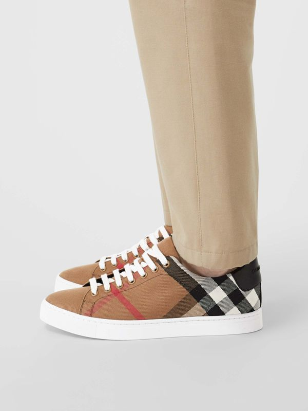 Sneakers en coton House check et cuir (Check/noir) - Homme | Burberry - cell image 2