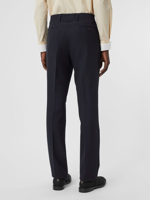 Classic Fit Double-faced Wool Crepe Tailored Trousers in Navy - Men | Burberry - cell image 2