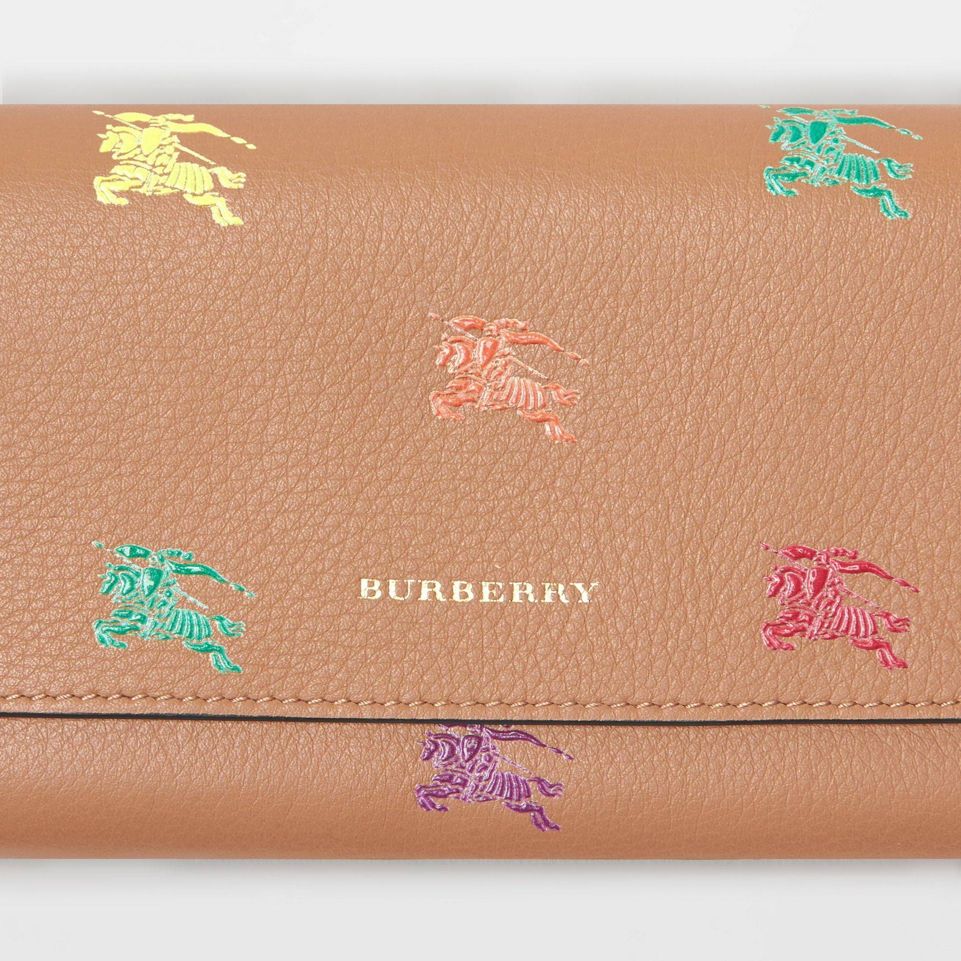 EKD Leather Continental Wallet in Light Camel - Women | Burberry - gallery image 1