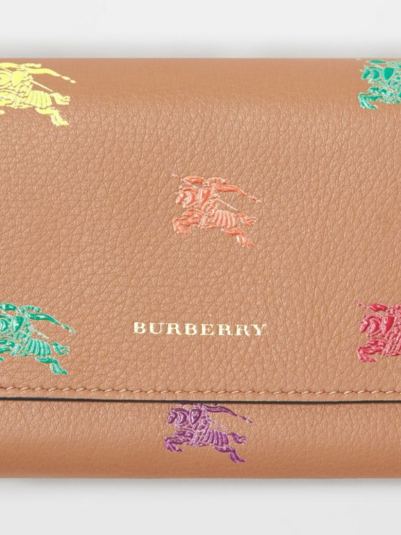 EKD Leather Continental Wallet in Light Camel - Women | Burberry - cell image 1