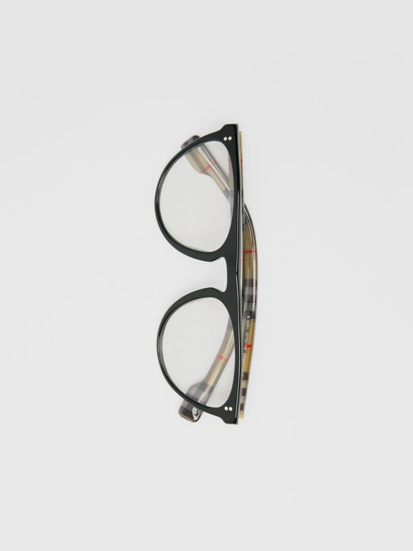 Keyhole D-shaped Optical Frames in Black - Men | Burberry Singapore - cell image 3