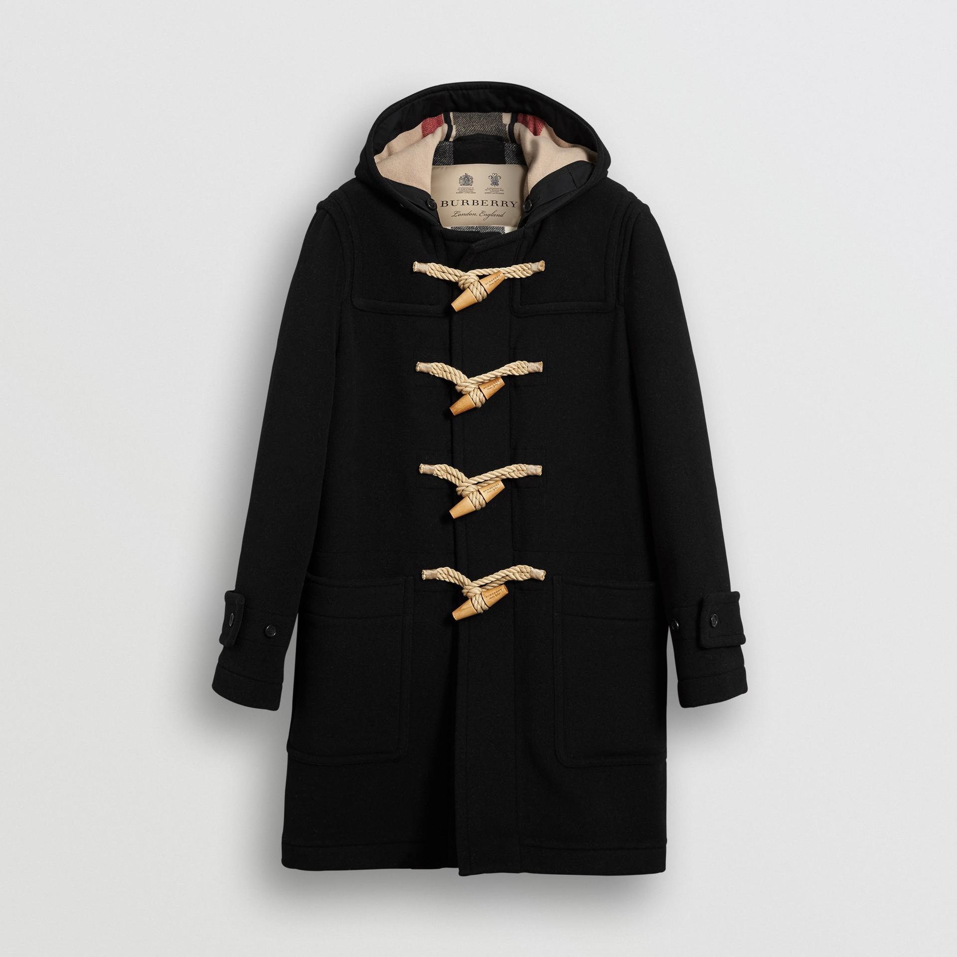 The Greenwich Duffle Coat in Black - Men | Burberry Australia - gallery image 3