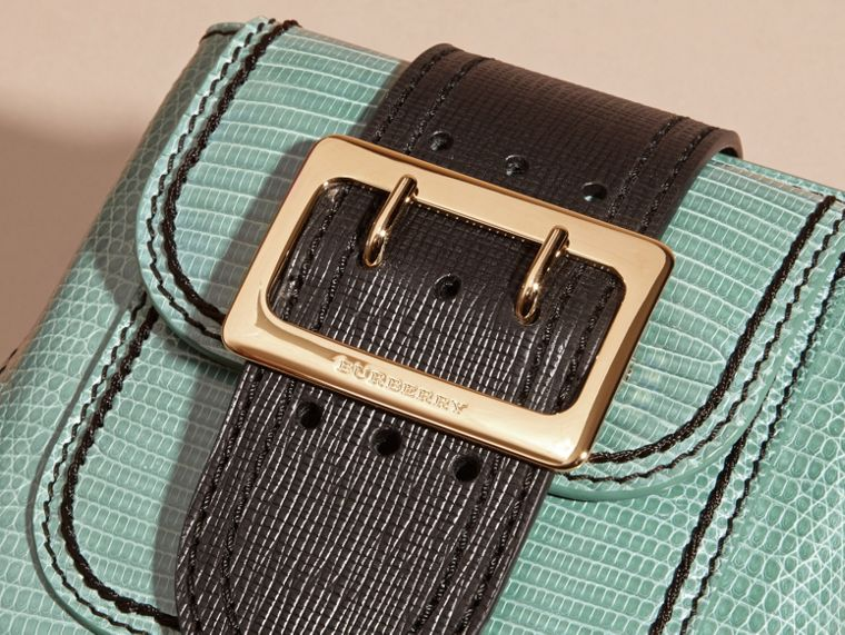 Dusty mint The Small Square Buckle Bag in Lizard - cell image 1