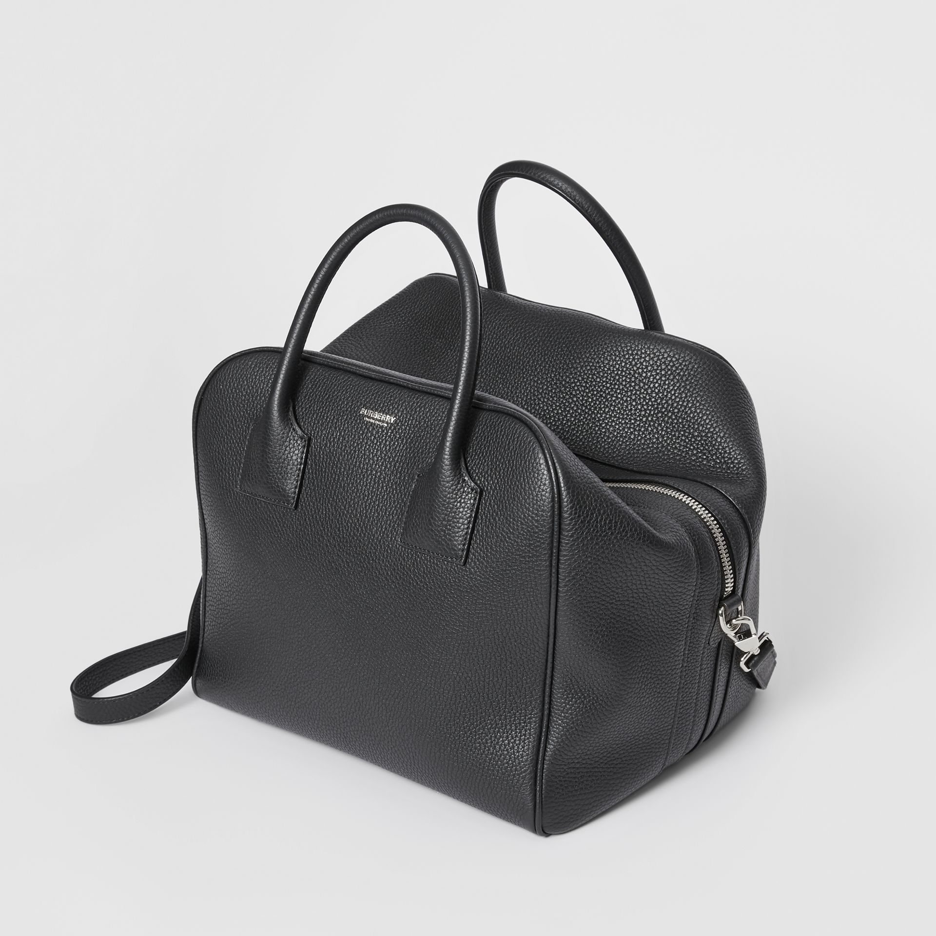 Medium Leather Cube Bag in Black - Women | Burberry United Kingdom - gallery image 3