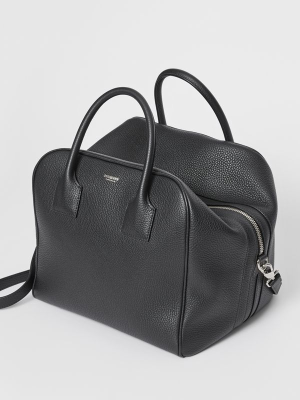 Medium Leather Cube Bag in Black - Women | Burberry United Kingdom - cell image 3