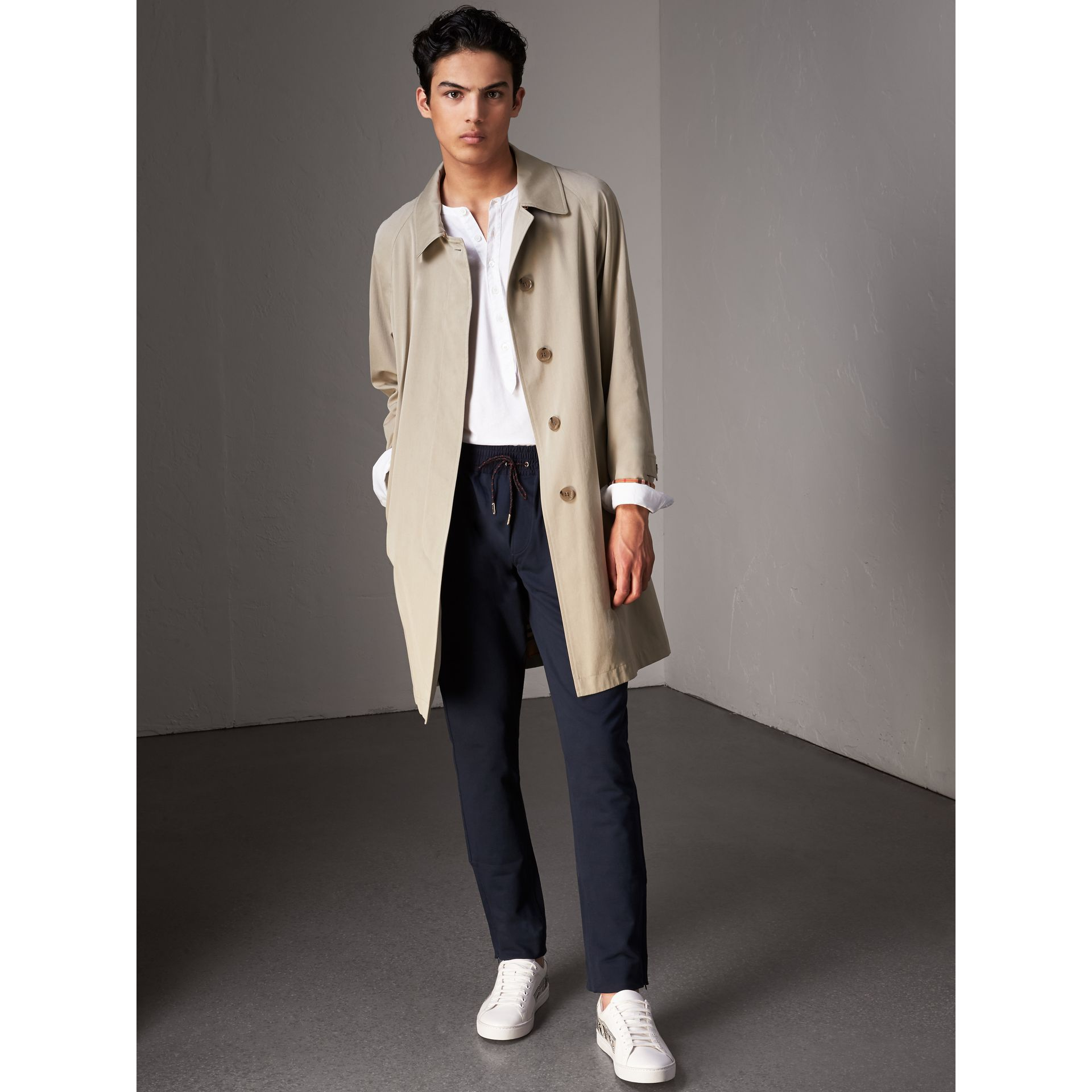 Pantalon de survêtement en coton (Marine) - Homme | Burberry - photo de la galerie 0