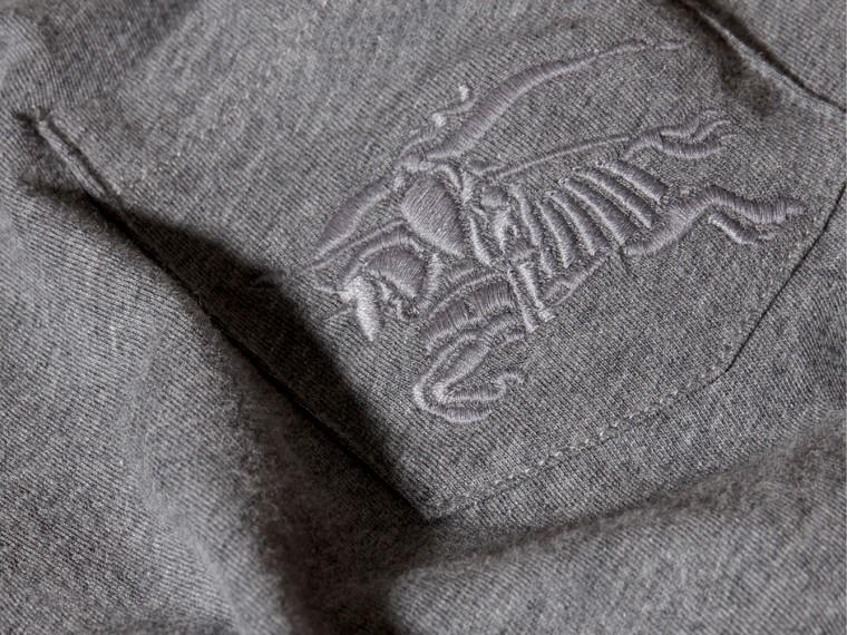 Camaïeu anthracite T-shirt à col ras du cou en coton Camaïeu Anthracite - cell image 1