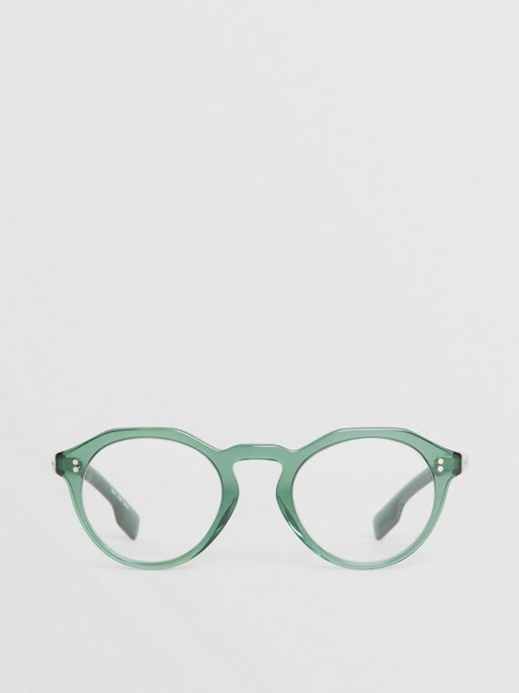 Keyhole Round Optical Frames in Green