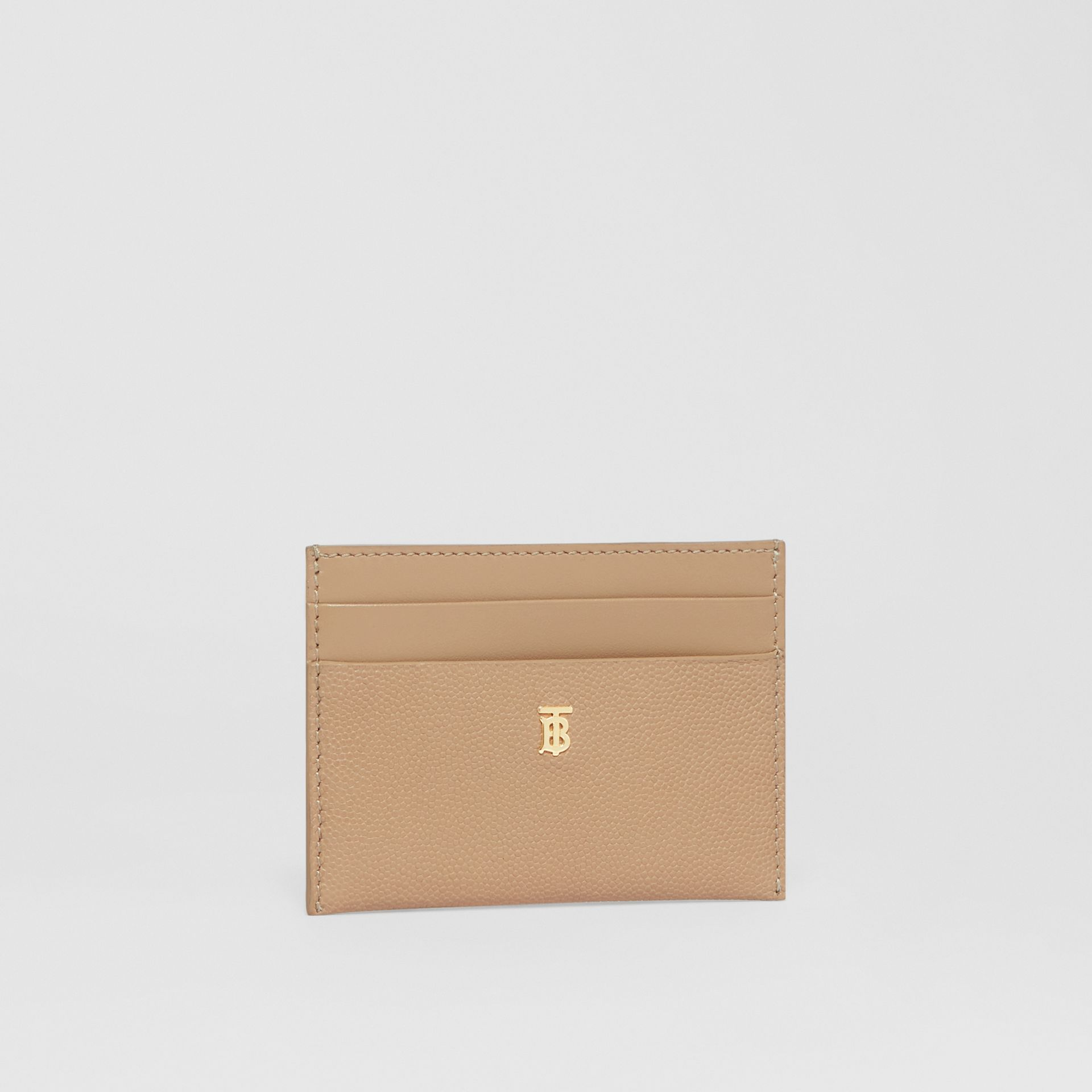 Monogram Motif Leather Card Case in Archive Beige - Women | Burberry - gallery image 2