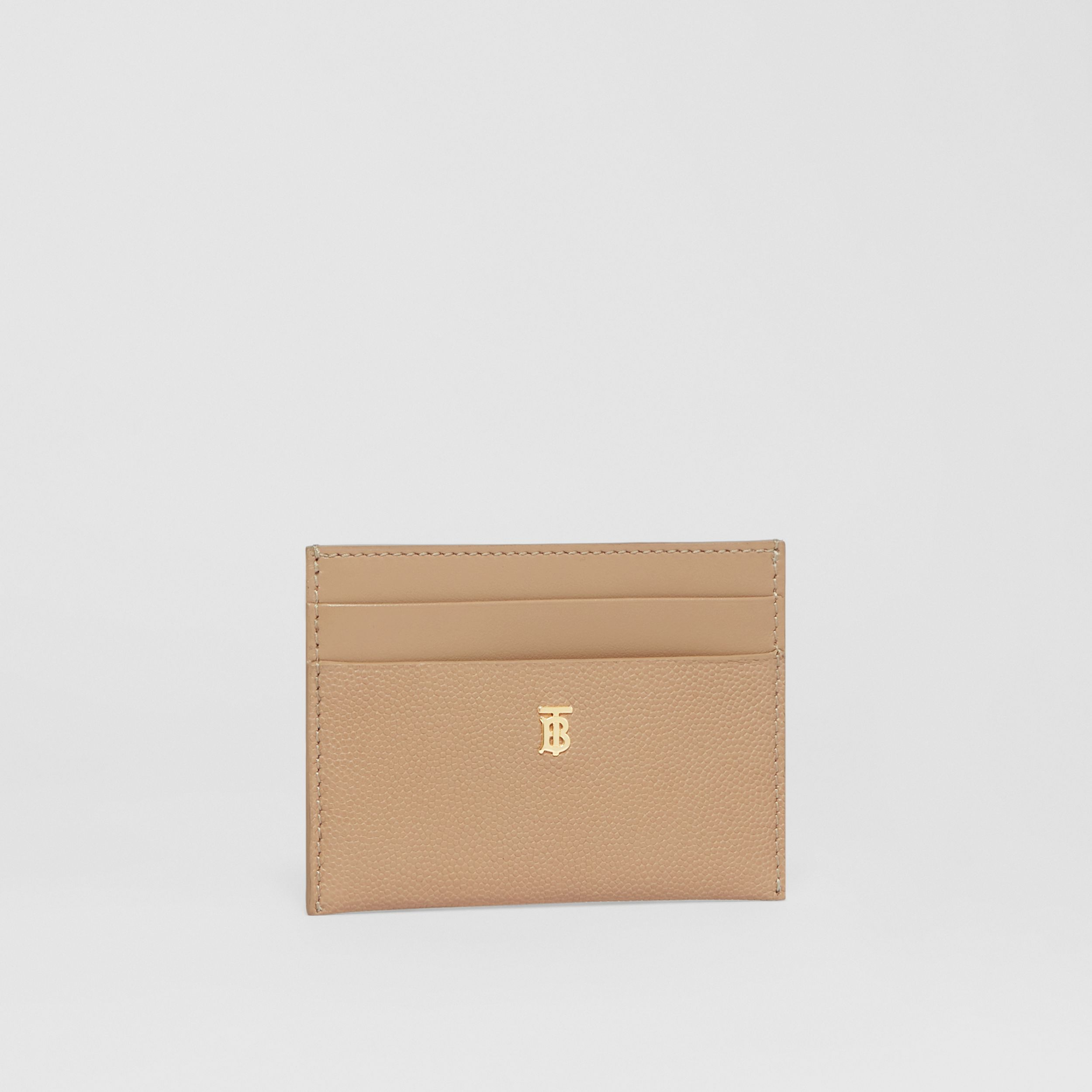 Monogram Motif Leather Card Case in Archive Beige - Women | Burberry Australia - 3