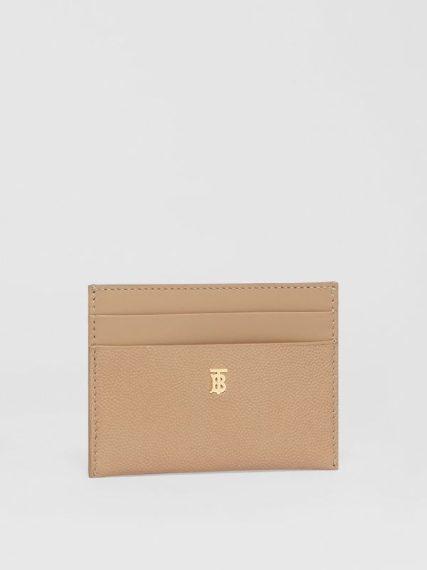 Monogram Motif Leather Card Case in Archive Beige - Women | Burberry United Kingdom - cell image 2