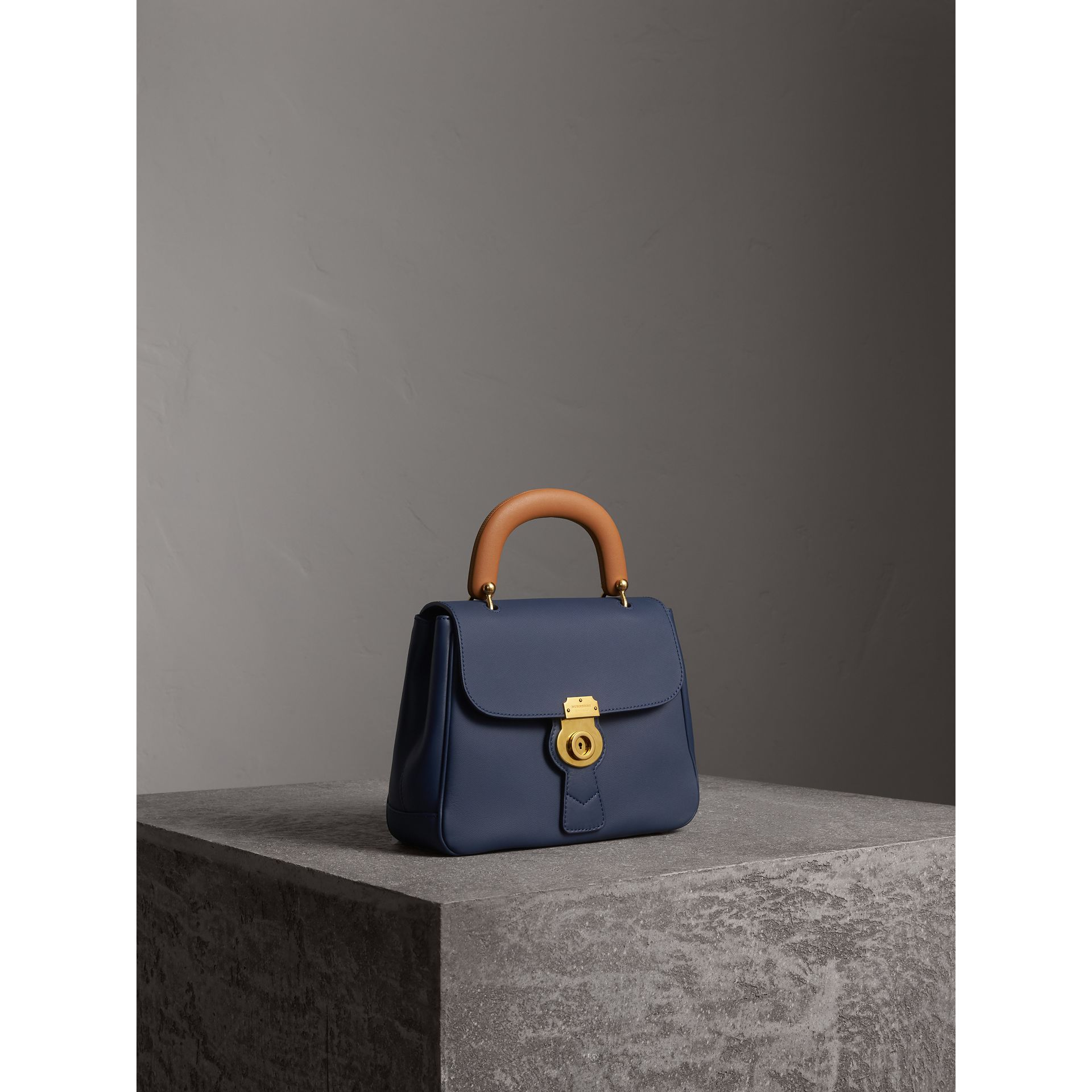 The Medium DK88 Top Handle Bag in Ink Blue - Women | Burberry - gallery image 6