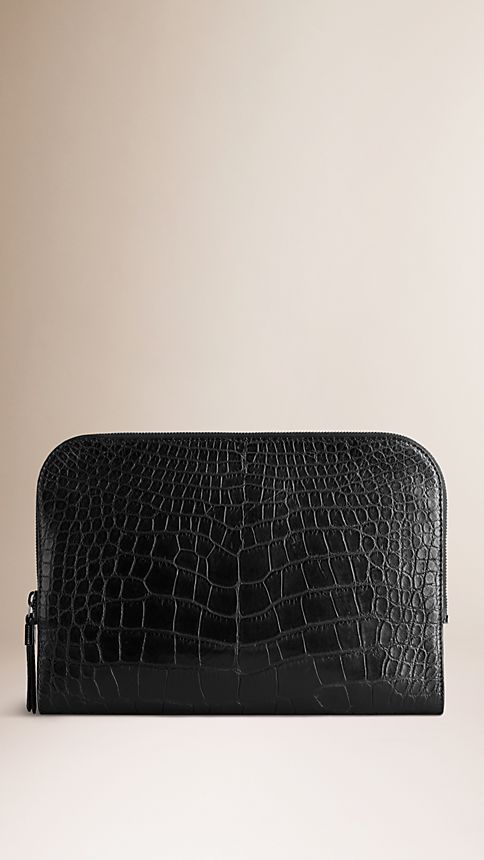 Black Alligator Document Case - Image 4