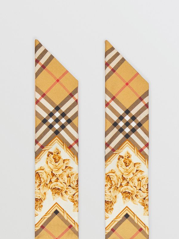 Archive Scarf Print Silk Skinny Scarf in Multicolour | Burberry - cell image 3