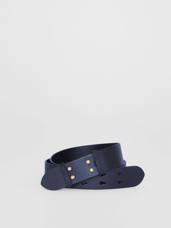The Medium Belt Bag Grainy Leather Belt in Regency Blue