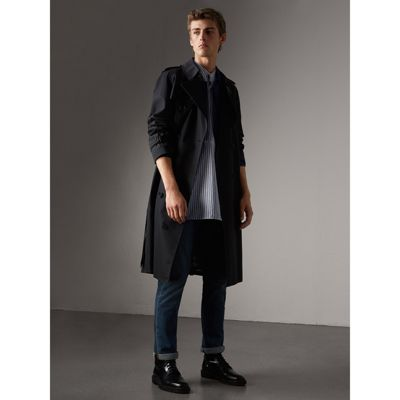 The Westminster – Extra-long Heritage Trench Coat in Navy - Men ...