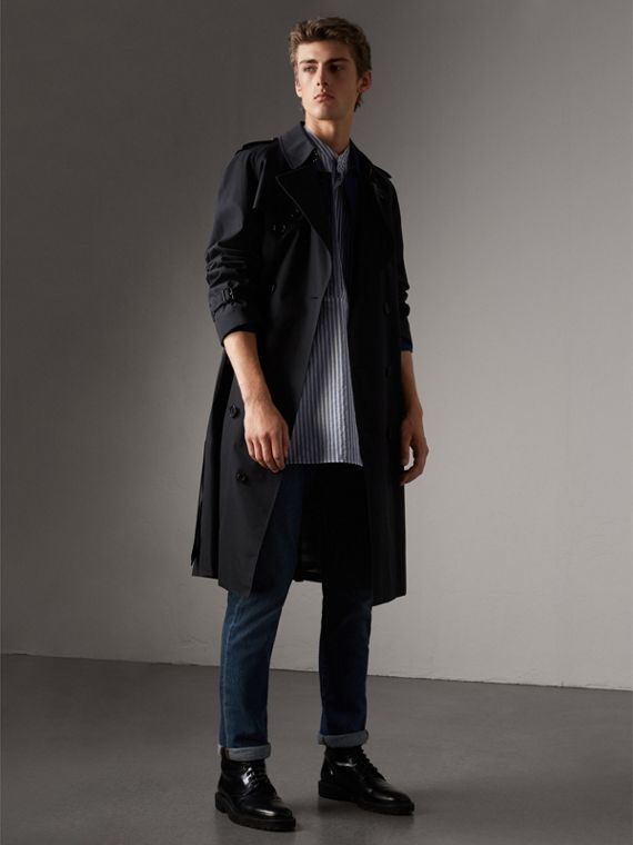 The Westminster – Extra-long Heritage Trench Coat in Navy