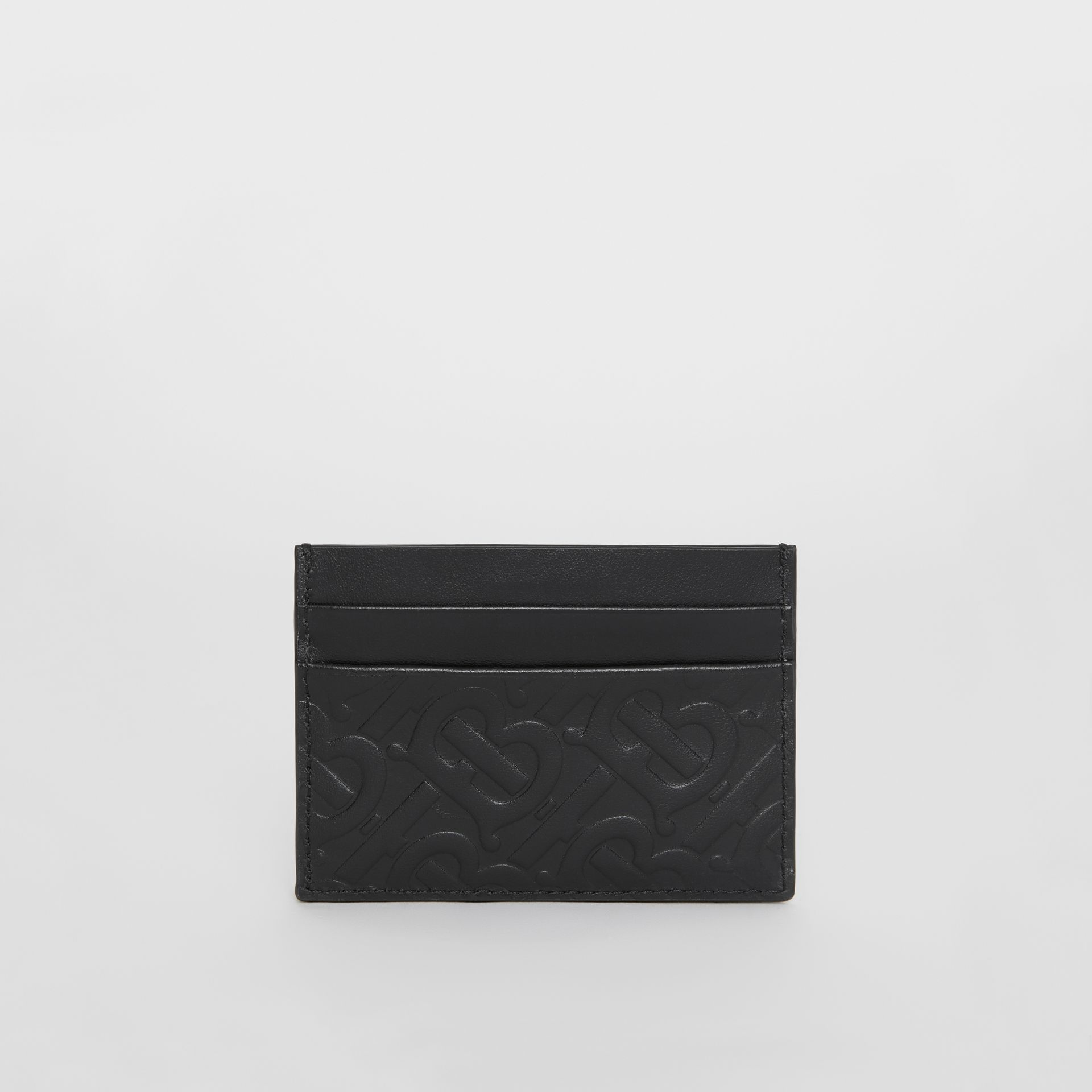 Monogram Leather Card Case in Black - Men | Burberry Singapore - gallery image 4