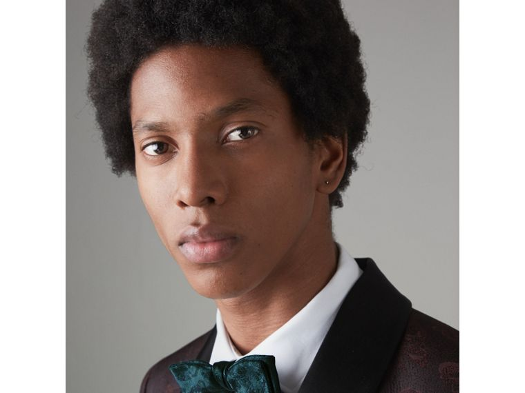Floral Silk Jacquard Bow Tie in Dark Teal - Men | Burberry - cell image 2
