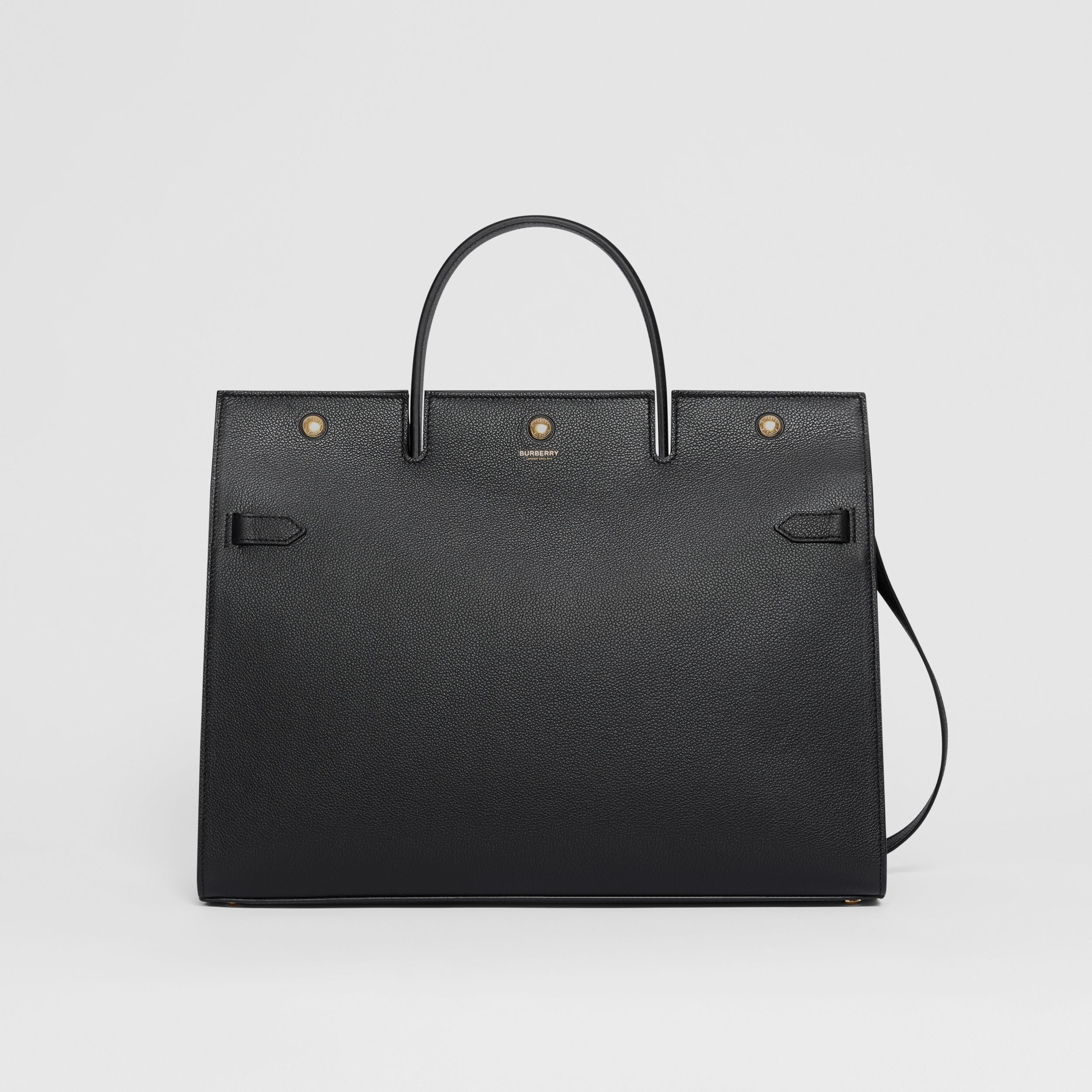 Large Leather Title Bag in Black - Women | Burberry Singapore - 1