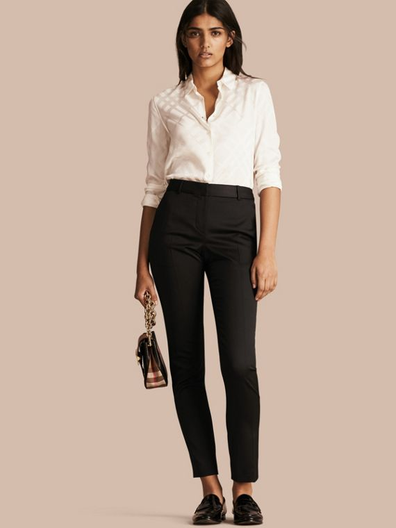 Wool Blend Tailored Trousers - Women | Burberry