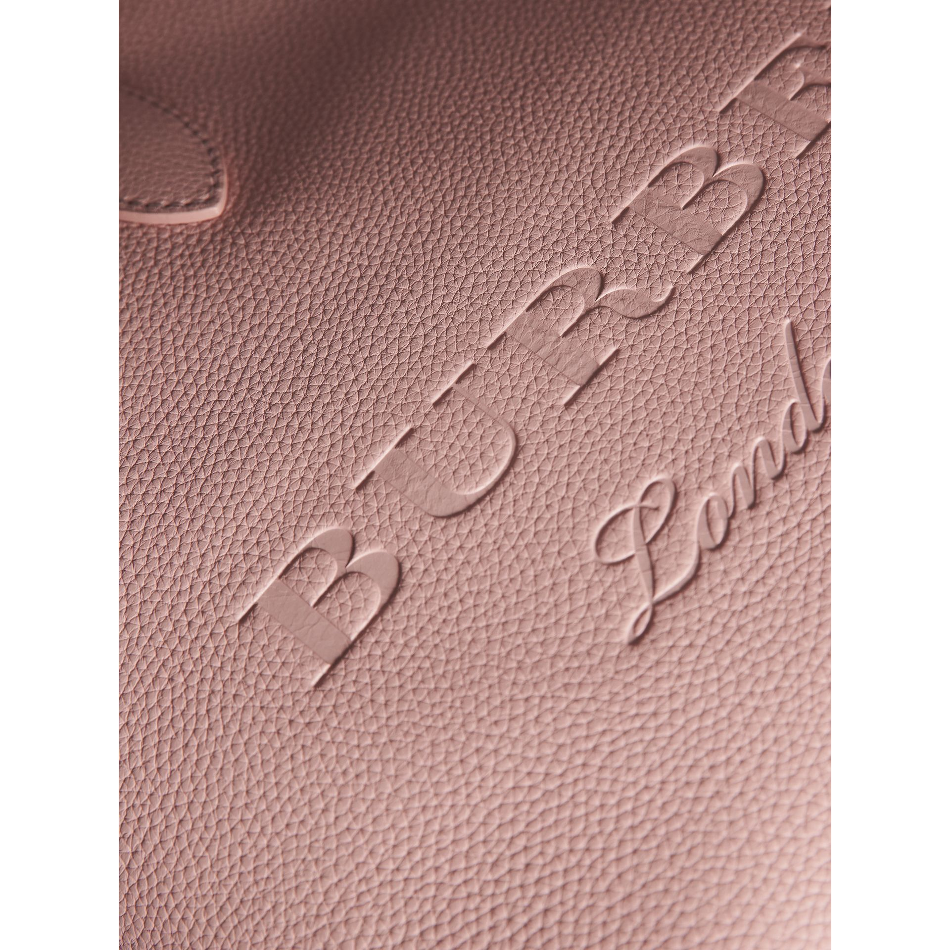 Large Embossed Leather Tote in Pale Ash Rose - Women | Burberry - gallery image 2