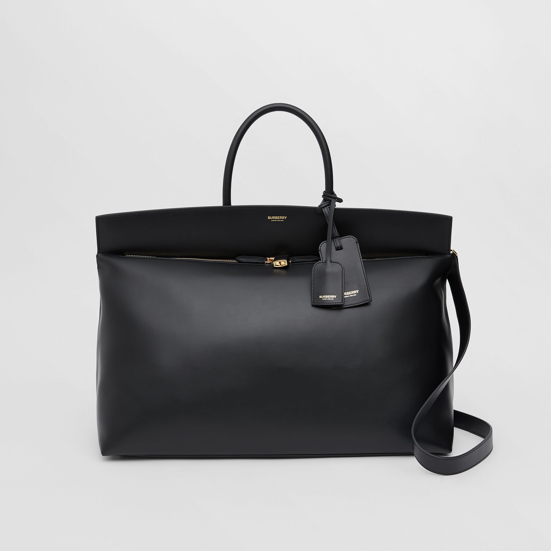 Extra Large Leather Society Top Handle Bag in Black - Men | Burberry Hong Kong S.A.R - gallery image 0