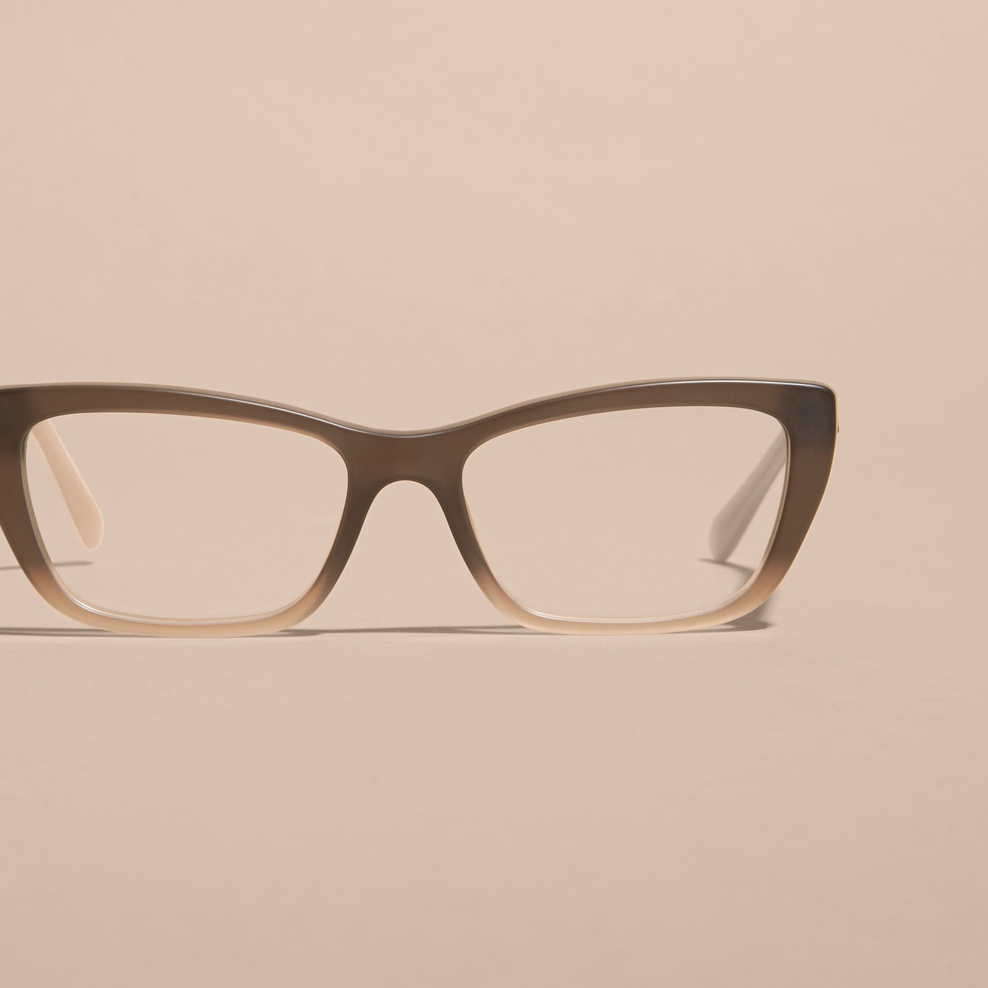 Check Detail Rectangular Cat-eye Optical Frames Carnation Melange - gallery image 3