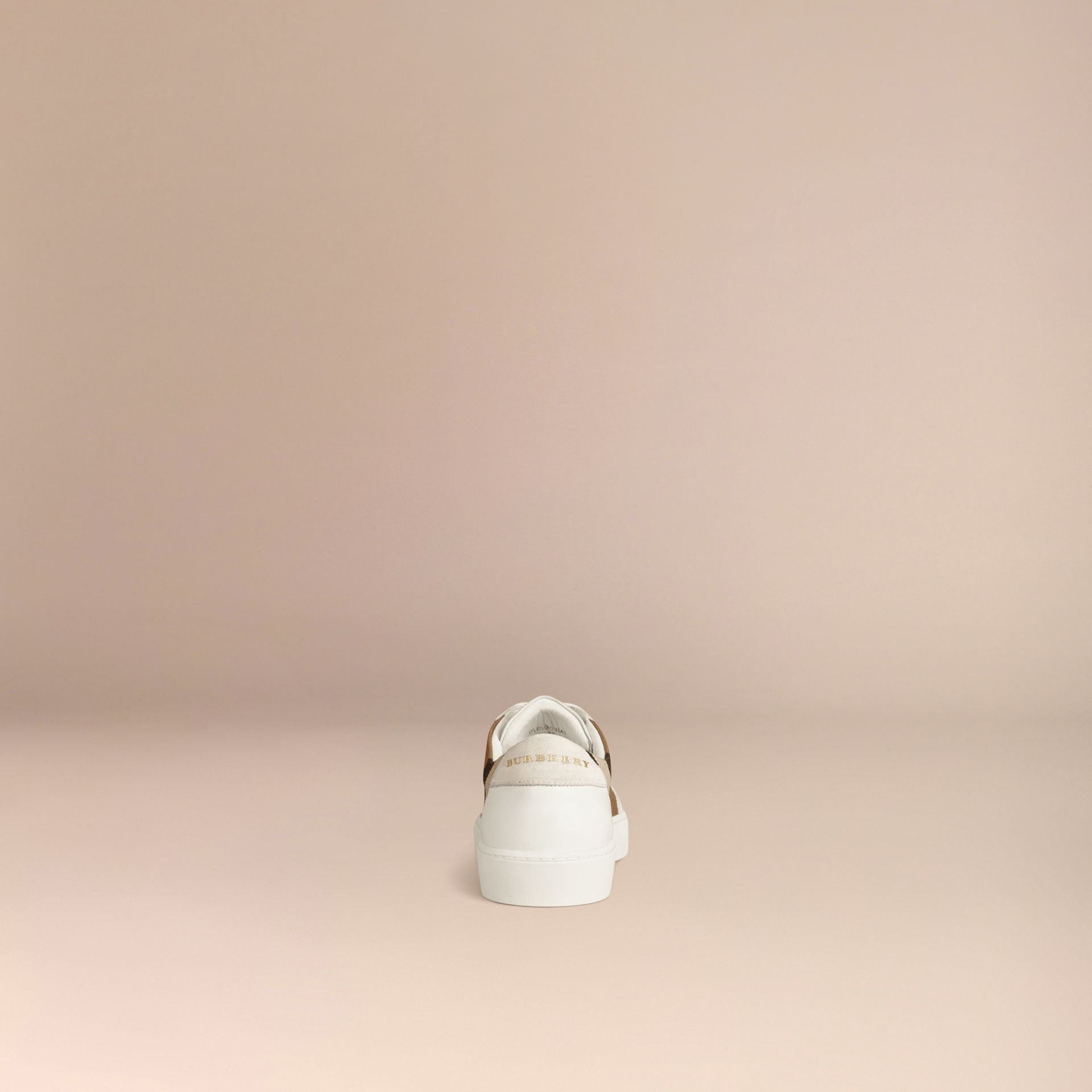 House check/optic white House Check and Leather Sneakers Check/optic White - gallery image 4