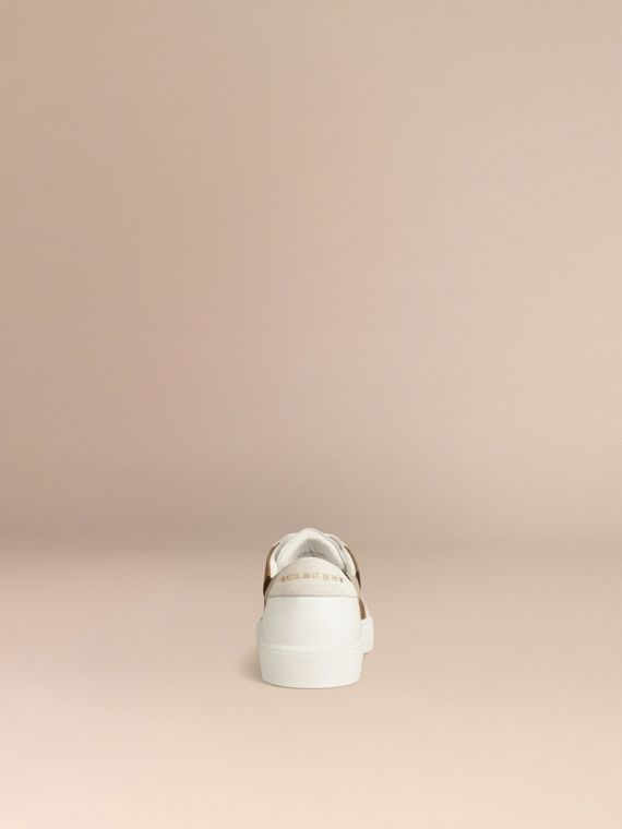 House check/optic white House Check and Leather Sneakers Check/optic White - cell image 3
