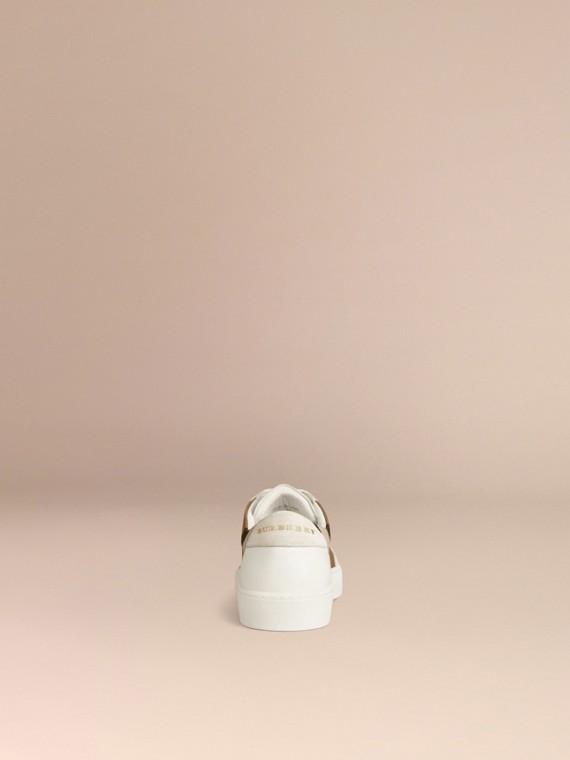 House check/bianco ottico Sneaker in pelle con dettagli check - cell image 3