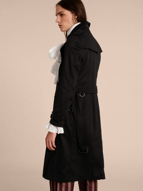 Sandringham Fit Cashmere Trench Coat in Black - cell image 2