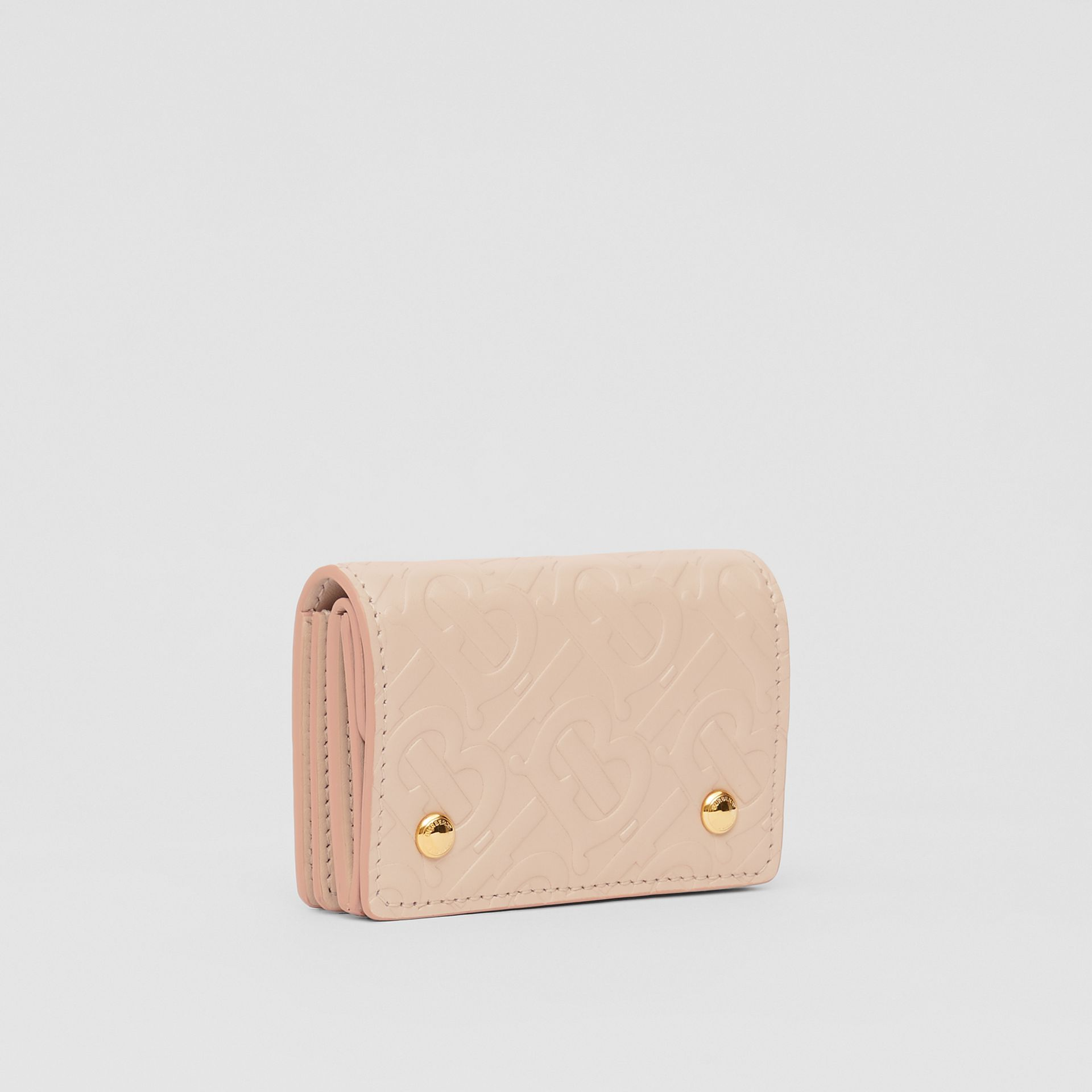 Porte-cartes en cuir Monogram (Beige Rose) | Burberry - photo de la galerie 4