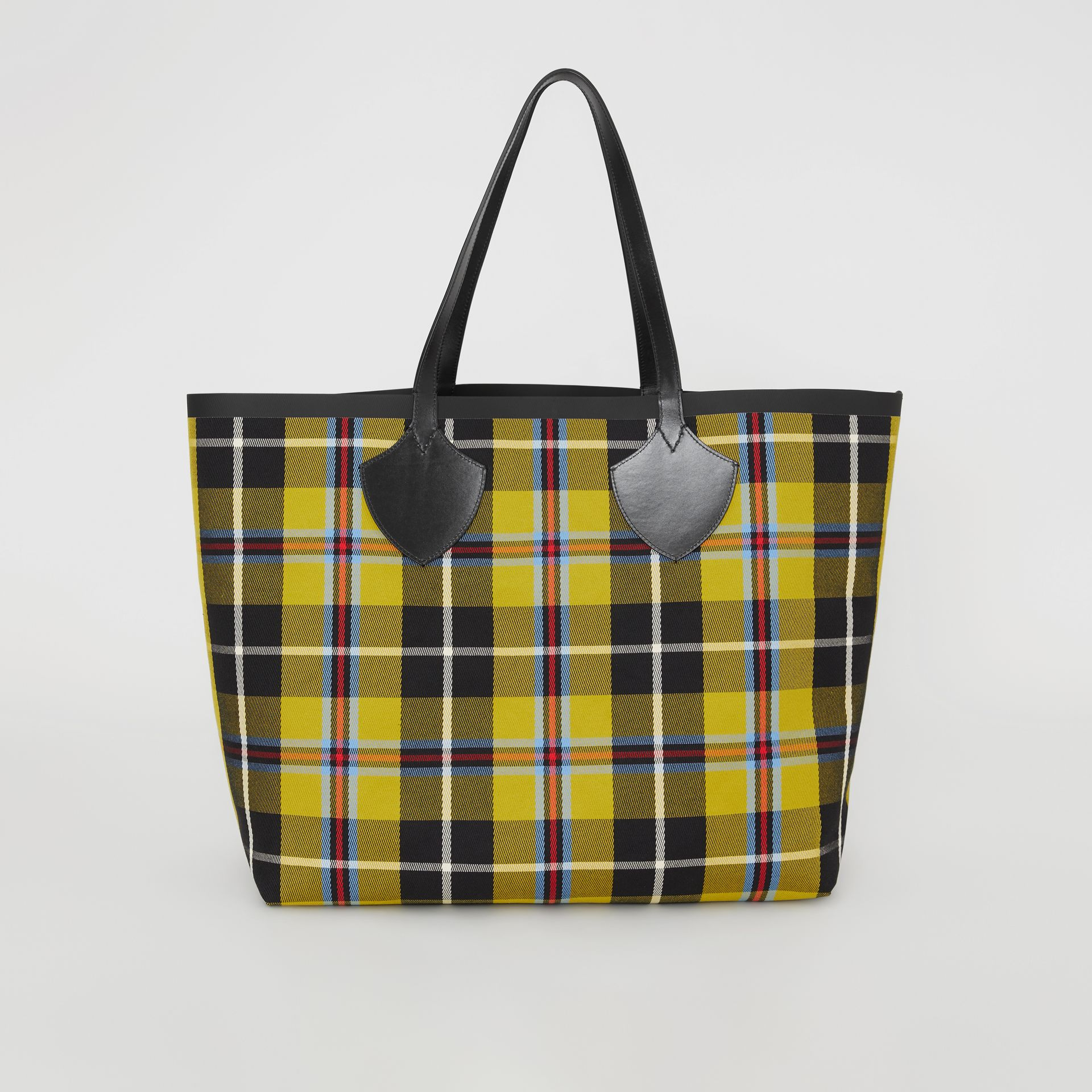 Sac tote The Giant réversible en coton à motif Vintage check (Jaune Antique) | Burberry - photo de la galerie 7
