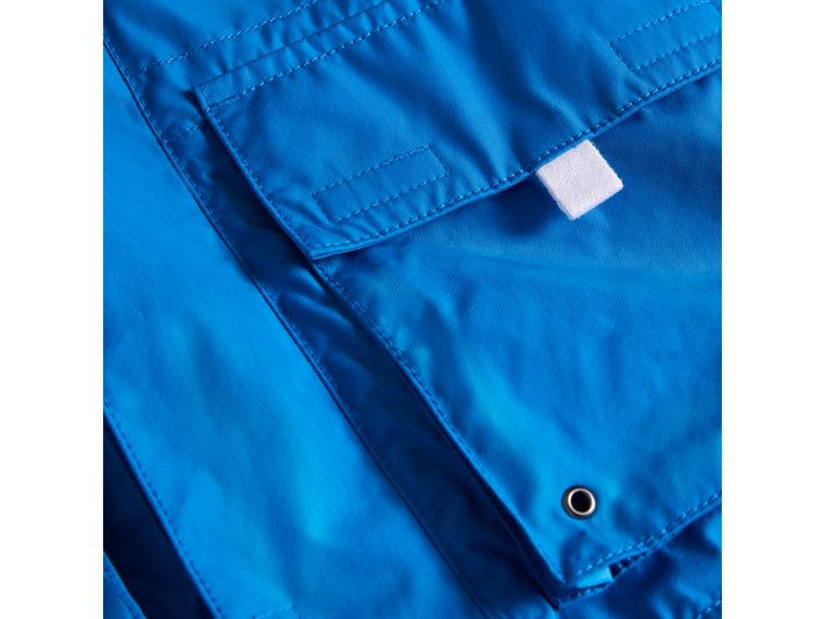 Hooded Shape-memory Taffeta Field Jacket in Azure Blue - Boy | Burberry - cell image 1
