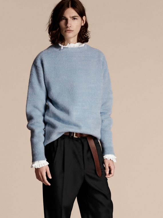 Brushed Wool Cashmere Sweater