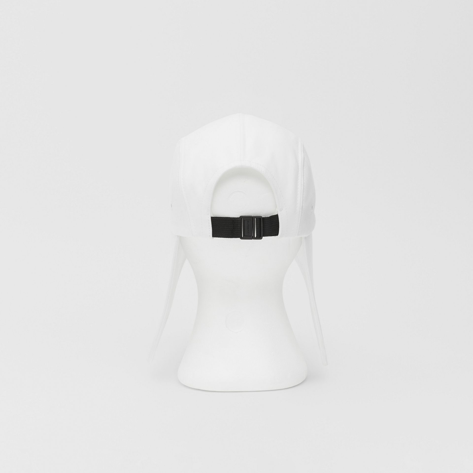 Logo Appliqué Cotton Bonnet Cap in Optic White | Burberry United States - gallery image 6