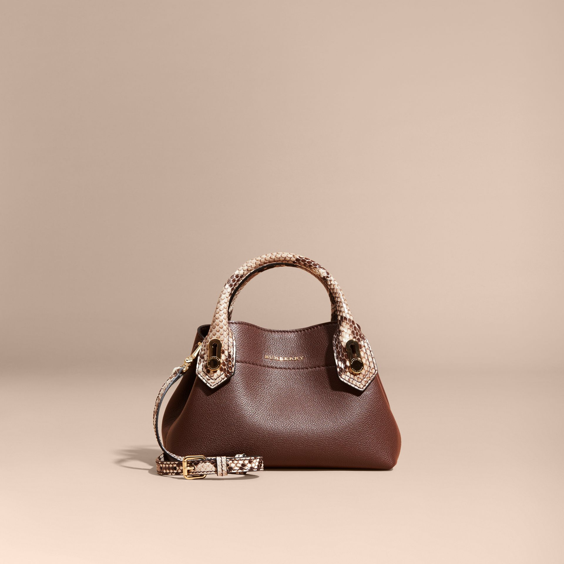 Sac The Baby Milton en cuir et python - photo de la galerie 8