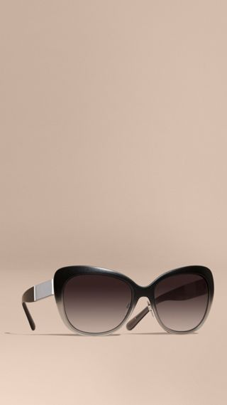 Check Detail Square Cat-eye Sunglasses