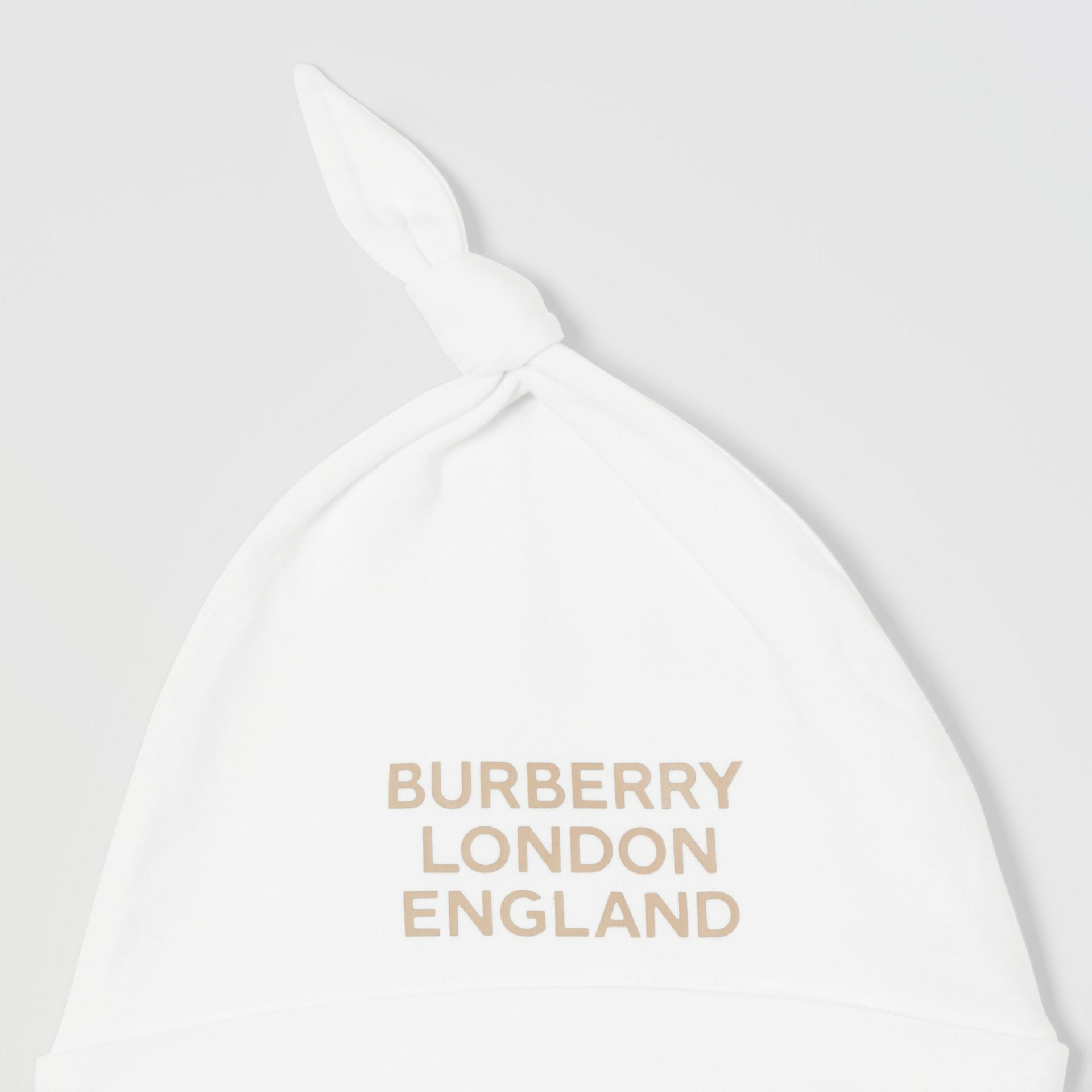 Logo Print Organic Cotton Two-piece Baby Gift Set in White - Children | Burberry United Kingdom - gallery image 7