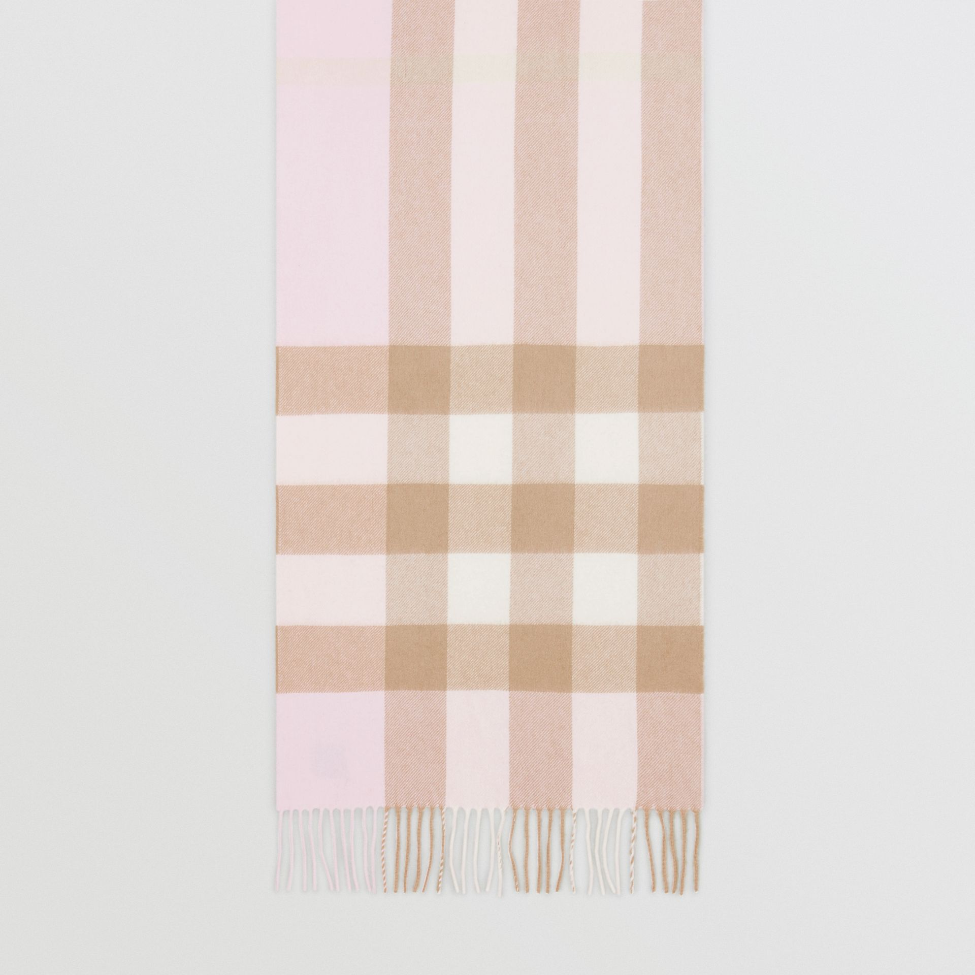 Check Cashmere Scarf in Alabaster Pink | Burberry - gallery image 4