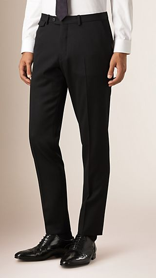 Slim Fit Wool Twill Trousers