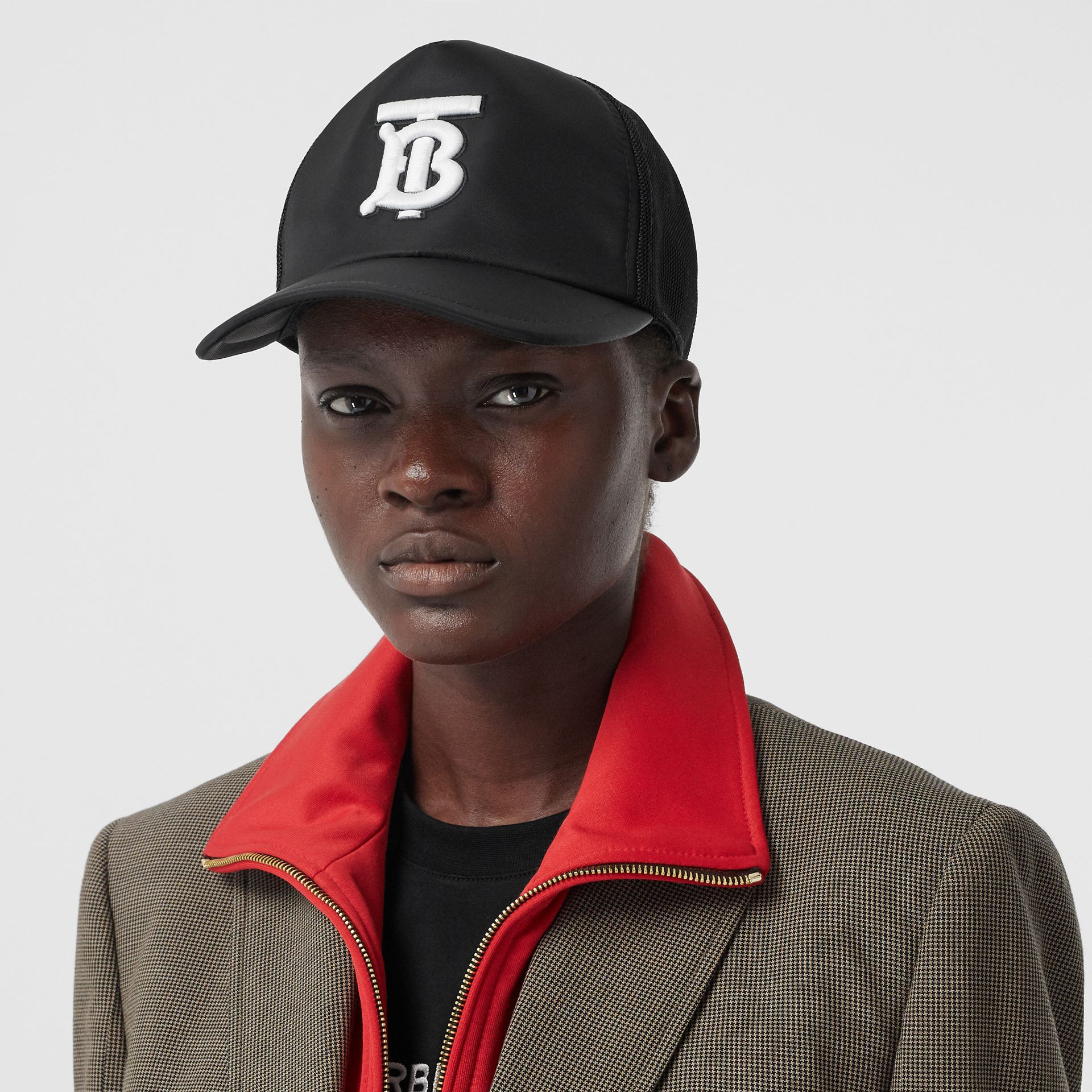 Monogram Motif Baseball Cap in Black | Burberry United Kingdom - gallery image 2