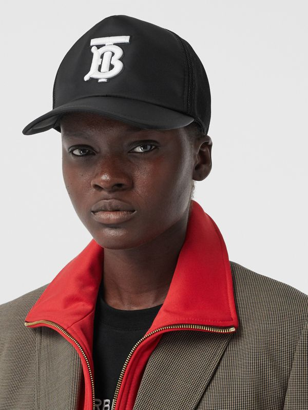 Monogram Motif Baseball Cap in Black | Burberry - cell image 2