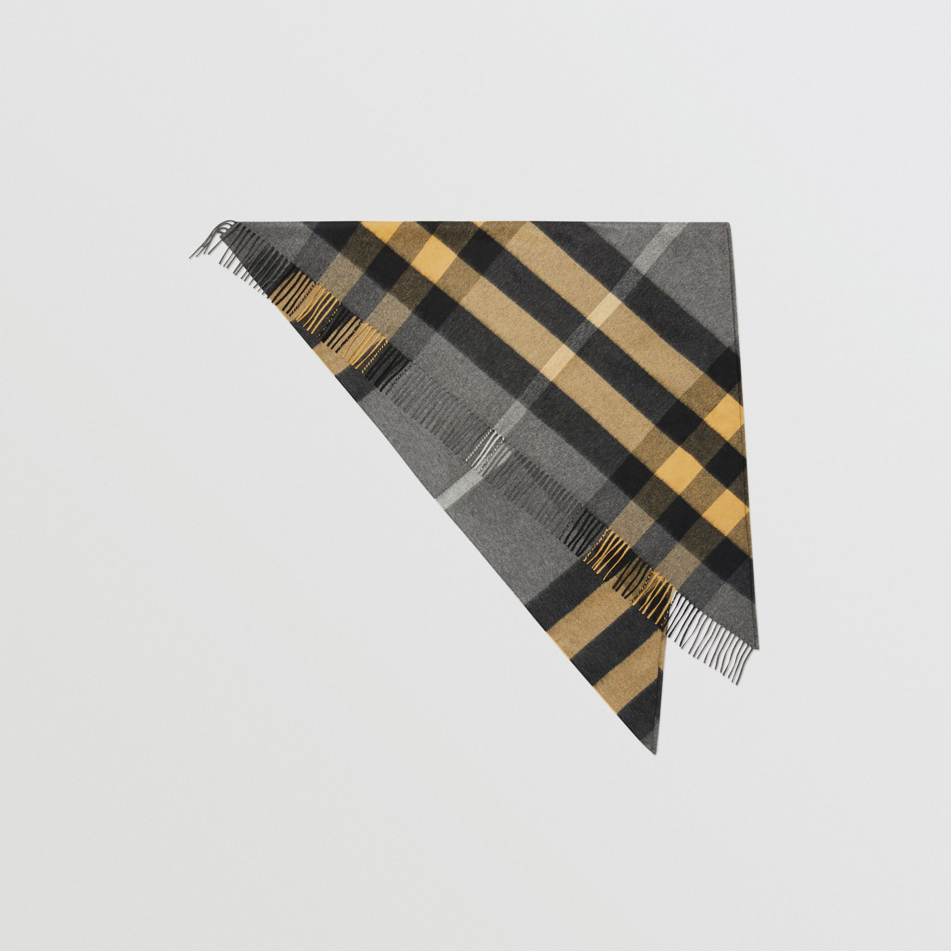 The Burberry Bandana in Check Cashmere in Mid Grey | Burberry Australia - gallery image 0