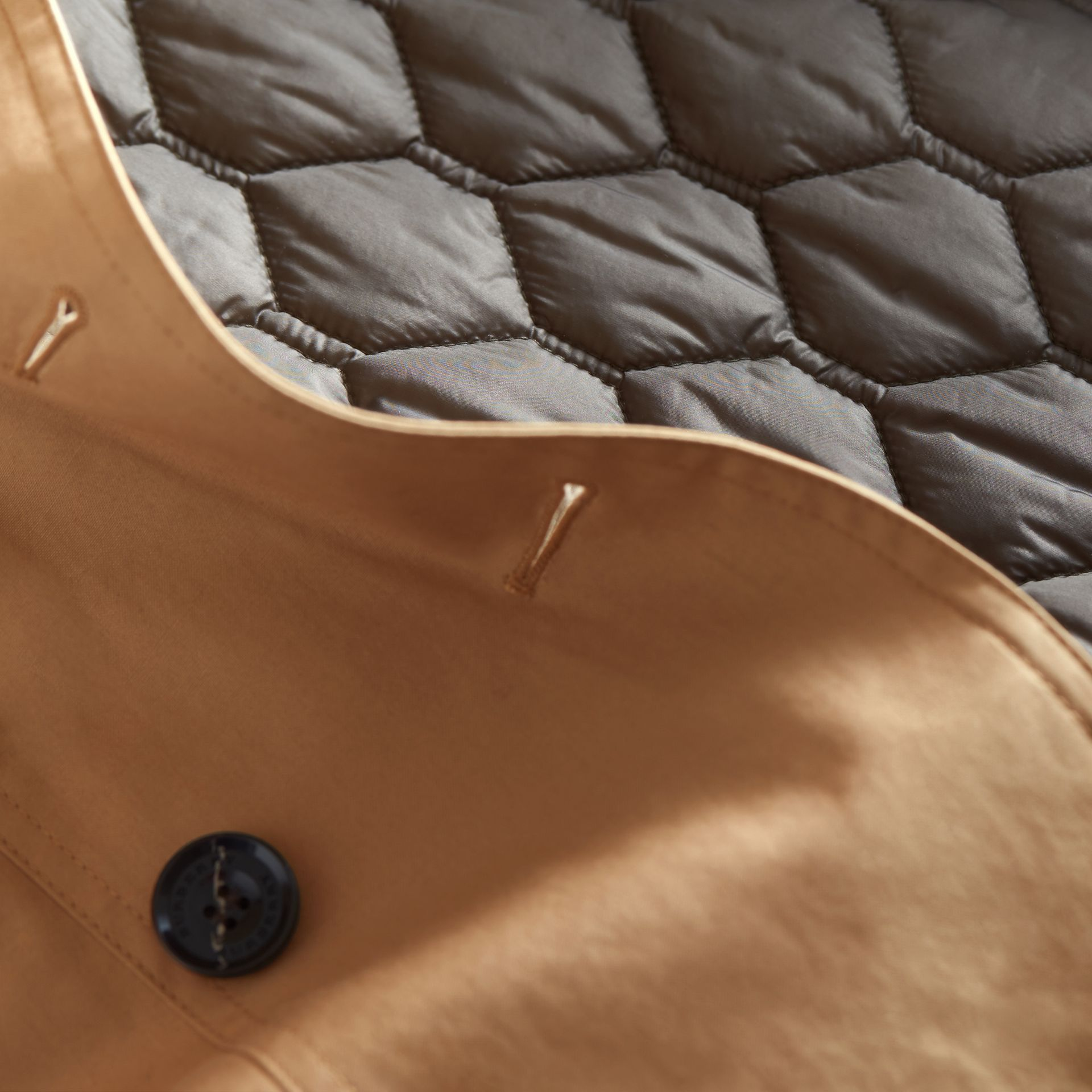 Hooded Trench Coat with Warmer in Light Camel - Women | Burberry - gallery image 2