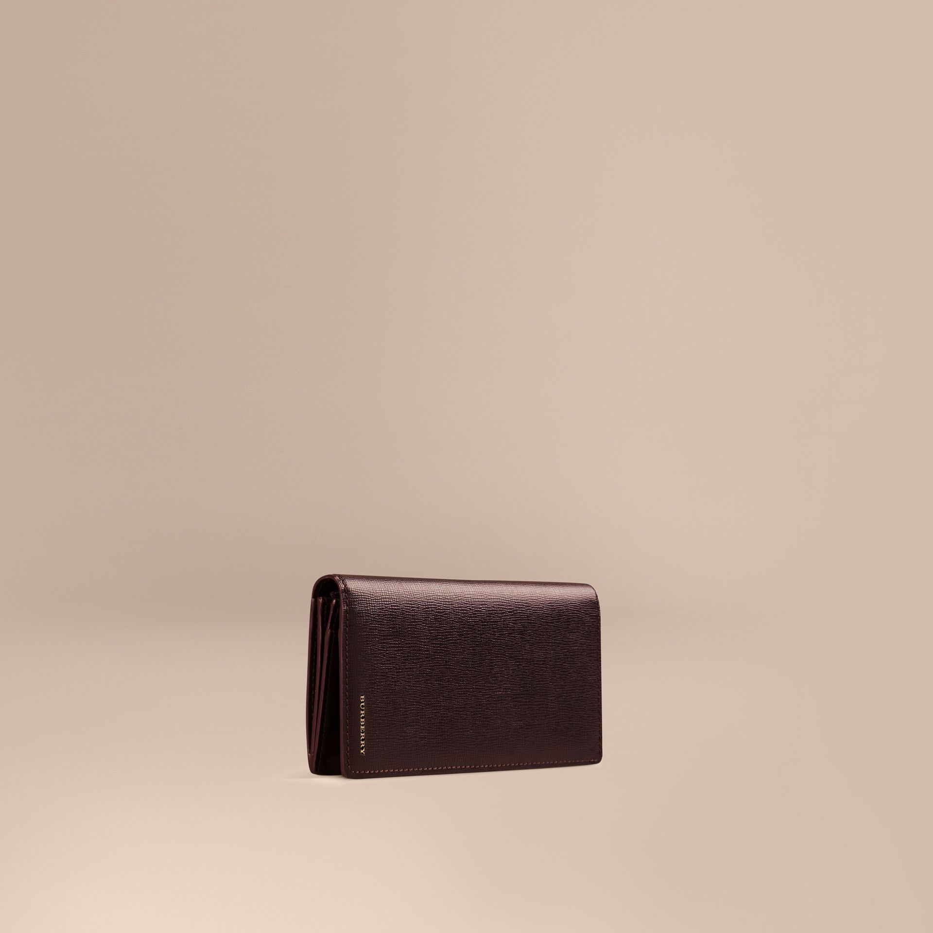 Wine London Leather Continental Wallet - gallery image 1