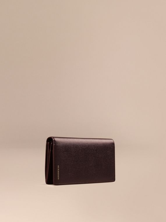 London Leather Continental Wallet Wine